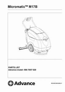 Micromatic M17b Parts List Advance Model  908 7057 020