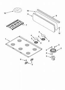 Cooktop Parts Diagram  U0026 Parts List For Model Kdrp467kss09