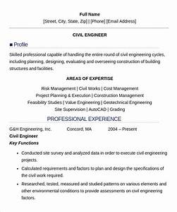 Civil Engineering Resume Example 16 Civil Engineer Resume Templates Free Samples Psd