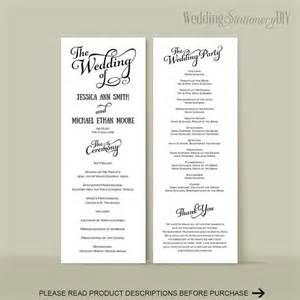 wedding reception program template wedding program diy wedding program templates reception