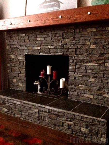 Slate Veneer Fireplace - fireplaces portfolio faux panels 174 photos and design ideas