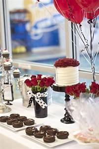 elegant party themes Kara's Party Ideas Black, White + Red Elegant Birthday Party via Kara's Party Ideas ...