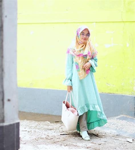 gaya hijab syari stylish ala ghaida tsurayya putri