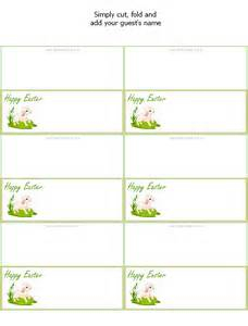 Printable Easter Place Card Template