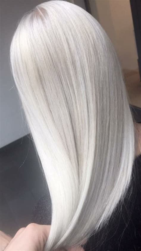 Ice Blond White Hair Platinum Hair Pinterest
