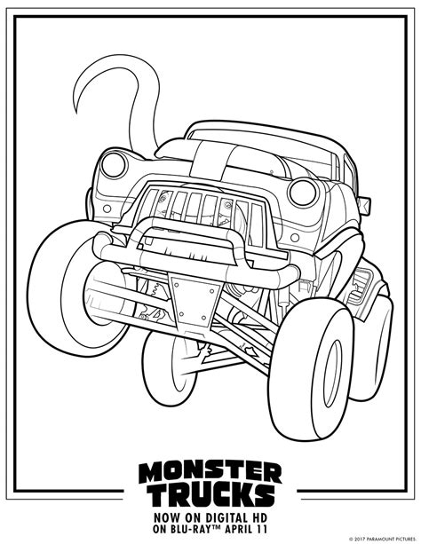 Monster Truck  Free Colouring Pages