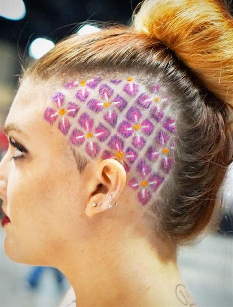 45 Undercut Hairstyles with Hair Tattoos for Women - Stylendesigns - Page 4