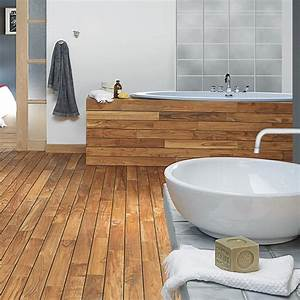 beautiful revetement sol salle de bain parquet pictures With salle de bain sol parquet