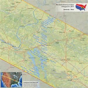2017 Solar Eclipse Path Kentucky Map