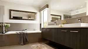 Meuble Salle De Bain Bois Et Blanc : salle de bain meuble bois fonce picslovin ~ Teatrodelosmanantiales.com Idées de Décoration
