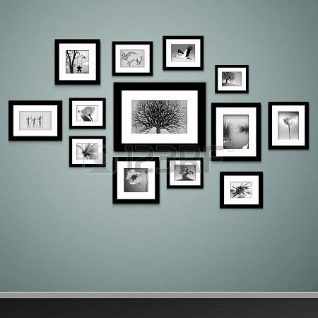 Photo Frames On Wall Wall Picture Frame Arrangement Ideas Frame Design