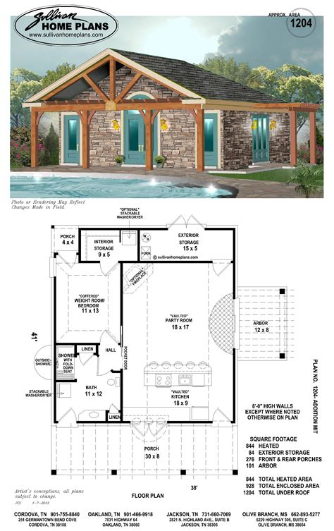 pool house plan pin on home at the