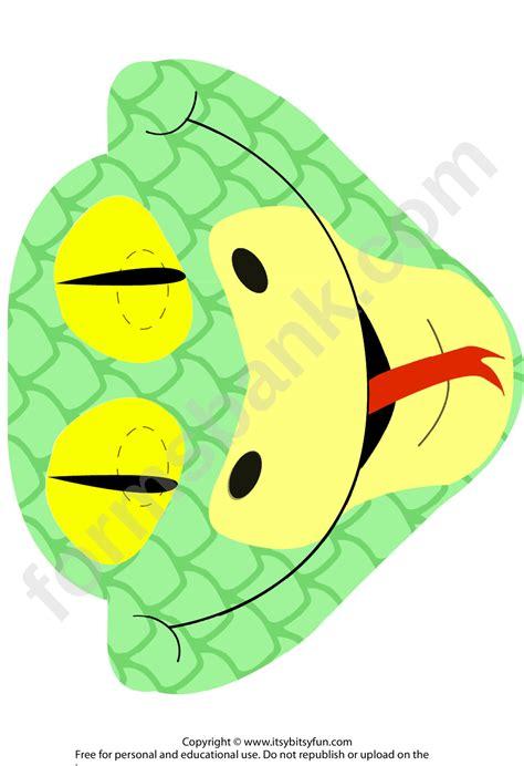 snake mask template printable