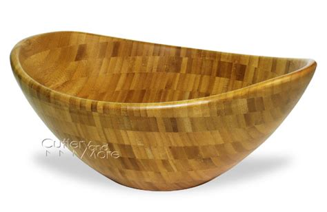 totally bamboo euro bamboo salad bowl  cutlery