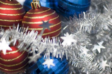can you still buy xmas tensil photo of festive baubles and tinsel free images