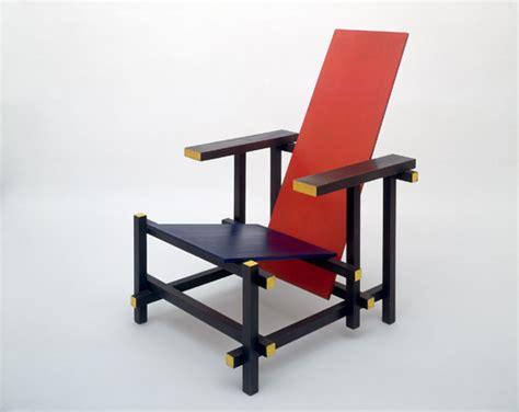 la chaise de rietveld gerrit rietveld chaise et bleu 1917 histoire