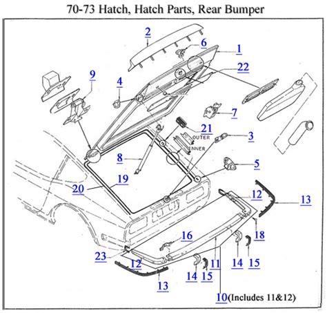 Datsun Z Car Parts by Z Car Parts Diagrams For 1970 78 240z 260z 280z Z Car