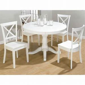White Extendable Round Dining Table Home Ideas