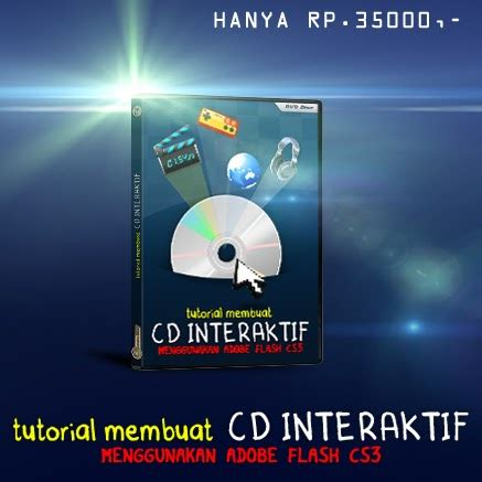 jual dvd video tutorial  membuat cd interaktif