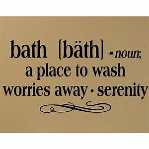 Items similar to bath definition vinyl decal bathroom wall for Cute sayings for bathroom walls