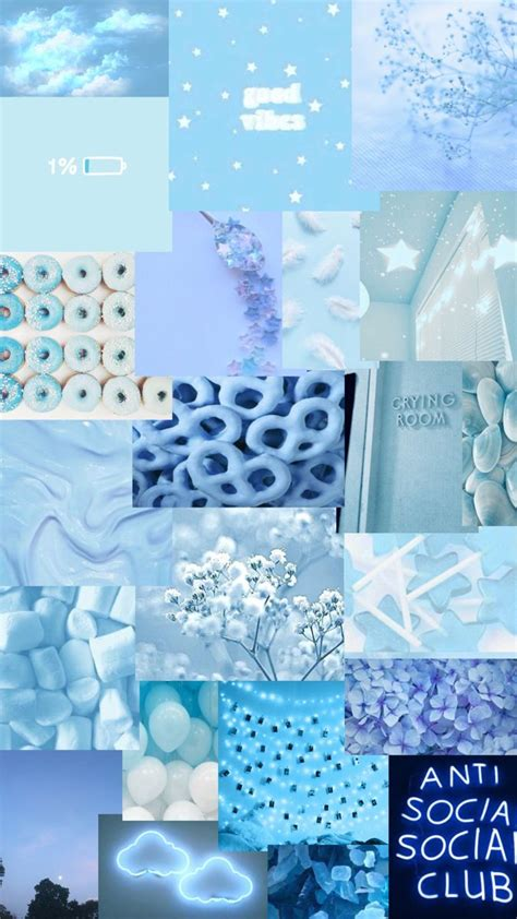 blue collage background in 2021 blue wallpaper iphone