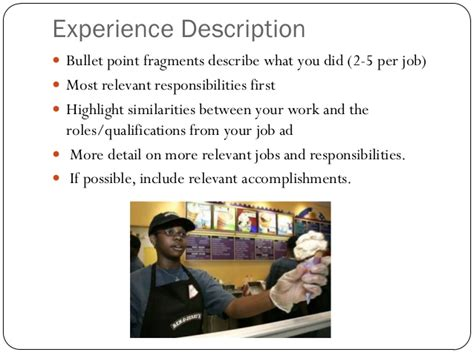 How To Describe Your Work Experience On A Resume by Resume Makeover Business Writing 307