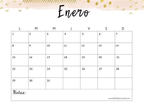 es decir calendario mensual bonito imprimir