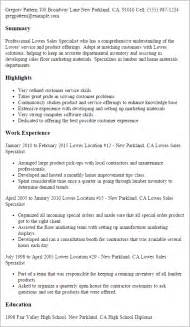 areas of improvement in resume professional lowes sales specialist templates to showcase