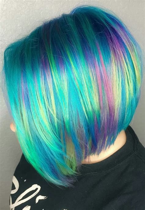 Best 25 Short Rainbow Hair Ideas On Pinterest