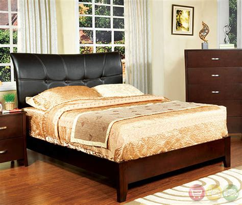 bedroom set midland for midland contemporary brown cherry bedroom set with padded