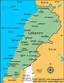 Lebanon Map | Infoplease