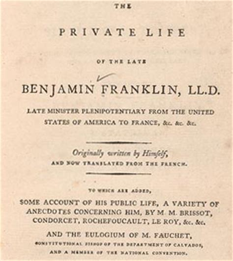 benjamin franklin s autobiography finding franklin a