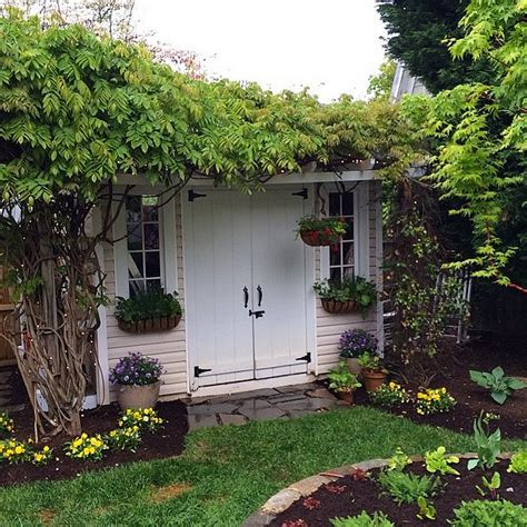 www plant shed ok we may want to live in this plant covered she shed
