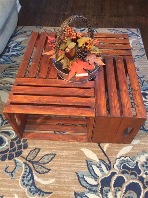 Diy wood crate coffee table free plans picture instructions. DIY Wooden Crate Coffee Table - The Legal Duchess