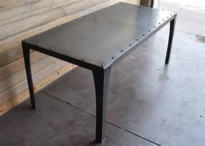 Simple Metal Table Vintage Industrial Furniture