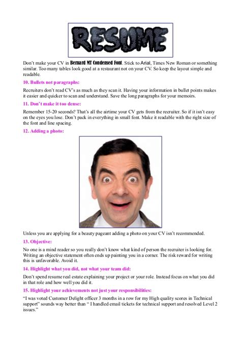 Top 10 Resume Mistakes by 19 Most Common Rookie Mistakes Made In Resumes