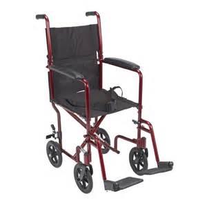 drive deluxe lightweight aluminum transport wheelchair 17 quot health