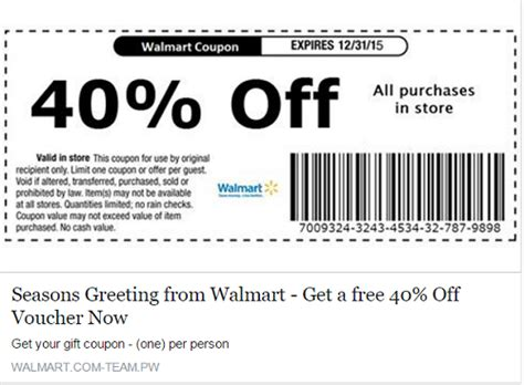 code promo cuisine store walmart coupon scam is the 40 percent coupon on