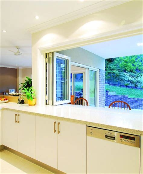 Kitchen Bifold Window Servery  Kitchen Serving Hatch
