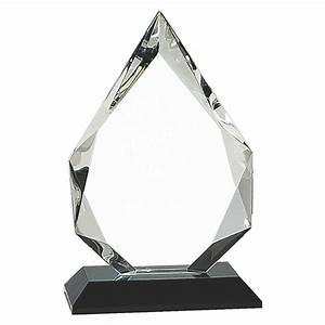 Black Base Clear Crystal Flame Trophy