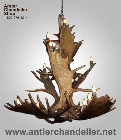 Antler Chandelier Shop by Real Antler Moose Chandelier 3 Tier Moose3tr 7 Rustic