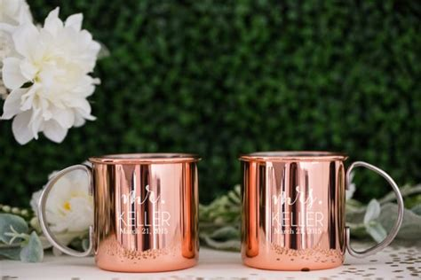 Personalized Moscow Mule Copper Mugs Set Of Two Custom Etsy