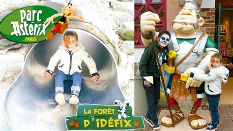 vlog decouverte du parc asterix  fun dans la foret