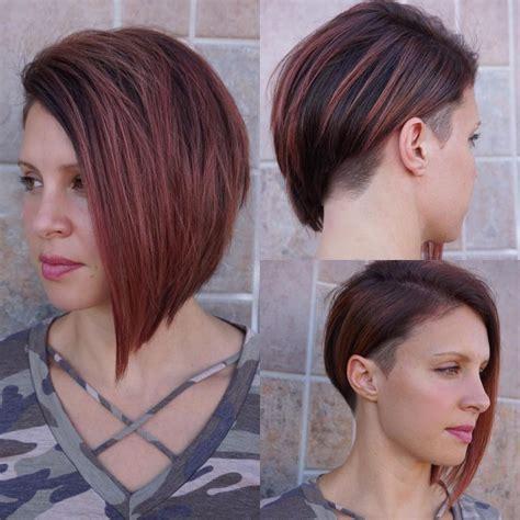 Women's Modern Sleek Undercut Asymmetrical Bob with