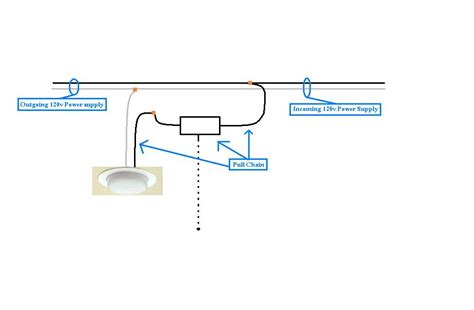 how do i wire a pull chain ceiling light correctly and where may i get a diagram of the same
