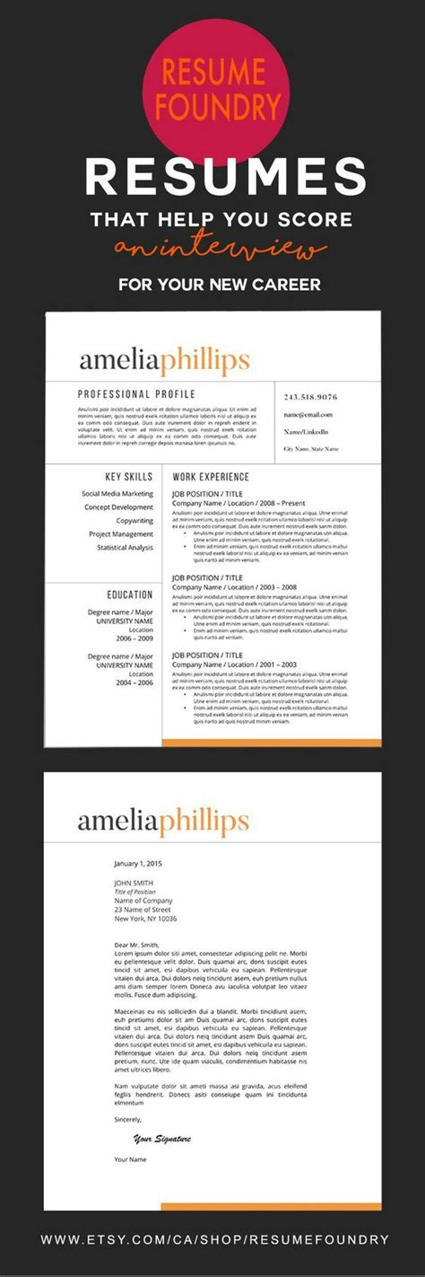Resume Templates G modern resume template for word 1 3 page resume cover