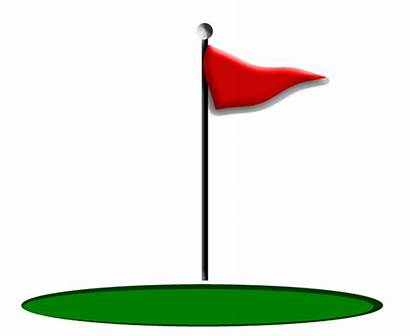 Golf Flag Clipart Flags Course Clip Flagstick