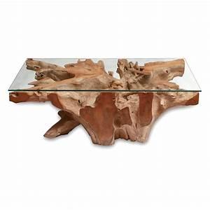 Wurzelholz Tisch Mit Glasplatte : teakholz couchtisch mit glasplatte ~ Bigdaddyawards.com Haus und Dekorationen