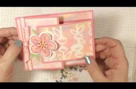 joy fold flower card lovesummerart youtube pinteres