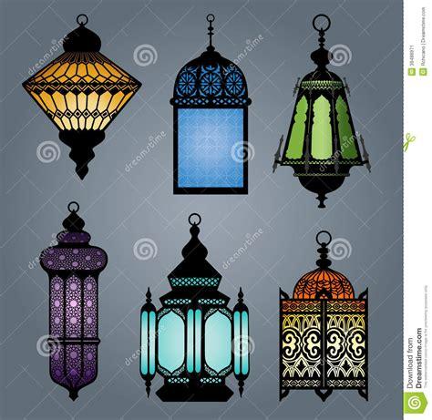 set  arabic lantern part  stock vector image